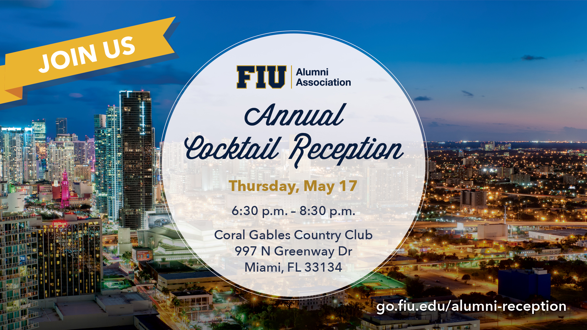 Annual Cocktail Reception - Thursday, May 17 - 6:30pm - 8:30pm